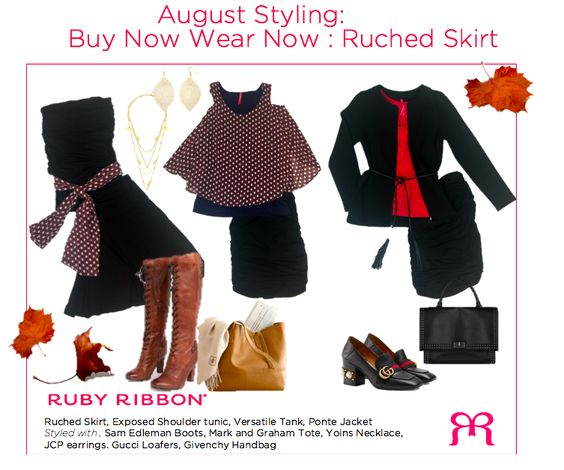 august ruched skirt