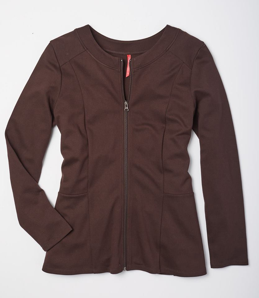 brown ponte jacket